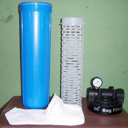 Blue And Grey PP Bag Filter Assembly