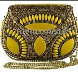 Fashion Nirvana Hand Mand Yellow Marble Stone Design Antique