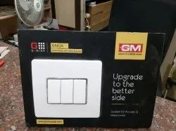 GM White Modular Switch for Home