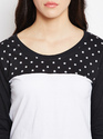 Ladies 3/4 Sleeves Cotton T-Shirt