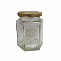 Hexagonal Glass Jar, Capacity: 250 mL