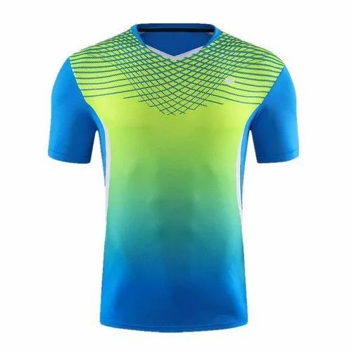 Polyester M-xxl Mens Badminton Sports T Shirts, Packaging Type: Packet