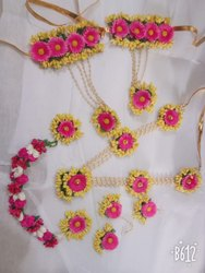 Artificial yellow flowers jewellery