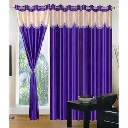 Polyester 3D Readymade Curtains for Window and Door, Size: 4x7 Feet