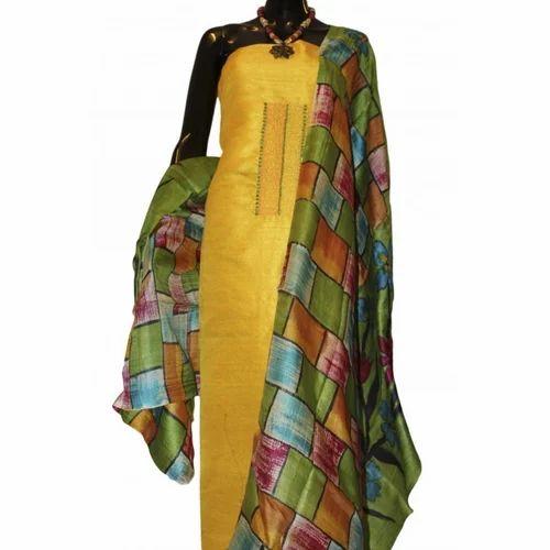 7f6f1c3670 Raw Silk Dress Material, रेशम की पोशाक सामग्री ...