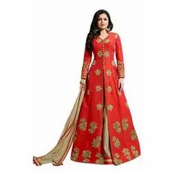 Ladies Floor Length Designer Suit, 100 - 150