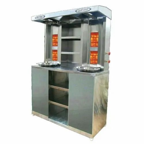Gas Perfect Shawarma Machine With Cabinet, for Restaurant