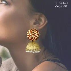 Meenakari Ethnic Jhumka Earring