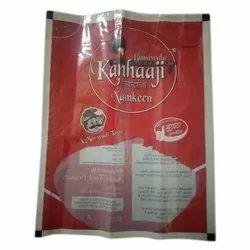 Red Printed Plastic Namkeen Packaging Bag