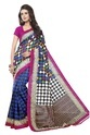 Blue Party Wear Silk Saree, With Blouse Piece