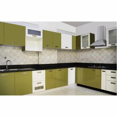 Wooden L Shaped Modular Kitchen Designing Services Warranty 1 5
