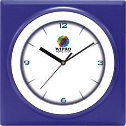 Blue Plastic Promotional Wall Clock, Size: 8.75 X 8.75, For Business Promotion / Festival