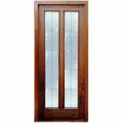 Glass & Wood Panel Door for Internal