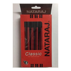Red And Black Nataraj Ball Pen