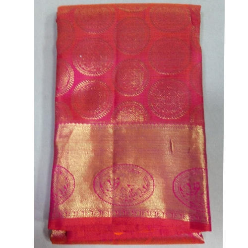 Party Wear Pure Kanjeevaram Silk Butta Saree, 6.3 M (with Blouse Piece)