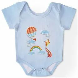 Casual Wear Sky Blue Kids Romper