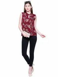 Sleeveless Georgette New Designer Tops