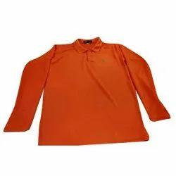 Orange Boys Plain T-Shirt, Size: XL