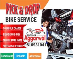 Pick and Drop Bike Service in Faridabad