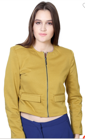 b91f6cdd962 Jackets And Overcoats For Women - Van Heusen Khaki Jacket ...