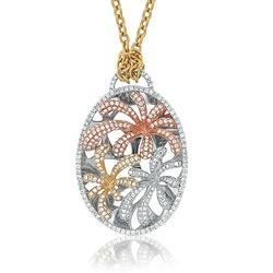 Diamond Small Flower Pendant