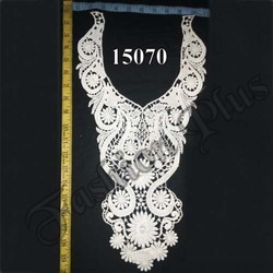 White Color Cotton Material Ladies Lace Neck Collar