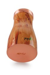GIFTING Oval Designer Copper Wood Water Pot, For HEALTH, Size: 500