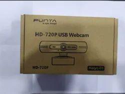 Black PUNTA HD-720P USB Webcam, Pixel: Upto 1280x720