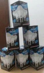 Cool Daylight 9 LED BULB 9W, Input Voltage: 220, Base Type: B22