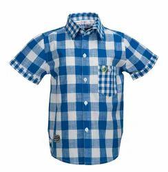 Beanie Bugs Casual men's blue check shirt