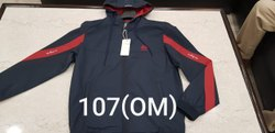 Mens Fashion Full Sleeves Polyester Hooded Jacket, Size: S To XXL