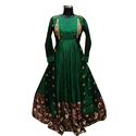 Ladies Party Wear Green Gown