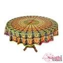 Cotton Mandala Printed Table Covers, Size: 165 Cm