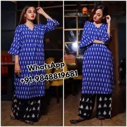 Anarkali Blue ladies kurthies