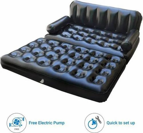 Astounding 5 In 1 3 Seater Air Sofa Cum Bed With Pump Lounge Couch Mattress Inflatable Creativecarmelina Interior Chair Design Creativecarmelinacom
