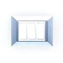 Polycarbonate White One Way Modular Switch, 220-240 V, ON/OFF