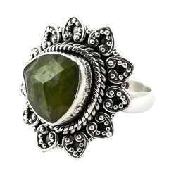 Circle Of Hope Prehnite 925 Sterling Silver Ring