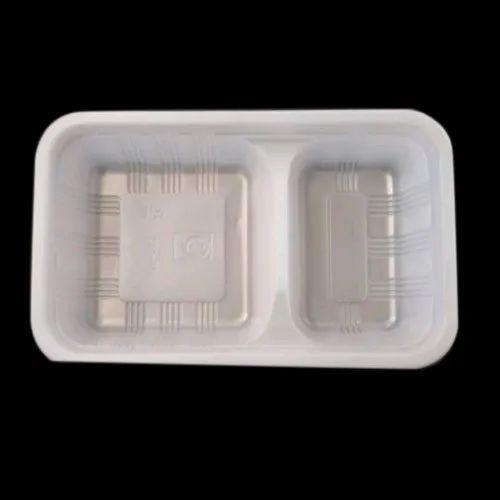 White Rectangular PVC Food Packaging Tray