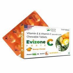 Evizone C Fort Vitamin E, Vitamin C Chewable Tablets