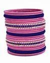 Pink and Blue Silk Thread Bangle