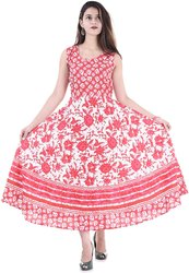 Cotton Printed Long Frock