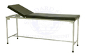 Standard Steel White Adjustable Examination Table, For Hospital Usage, Size: 72x24x36