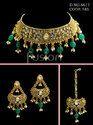 Polki Antique Choker Necklace Set