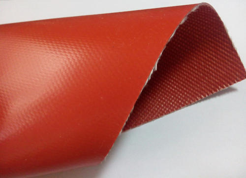 Red Grey And White Plain Weave Heat Resistant Cloth Rs