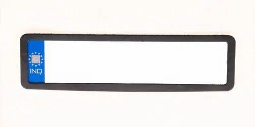 Black Premium Quality Plastic Four Wheeler Number Plate Frame