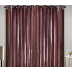 Self Design Silk Curtain