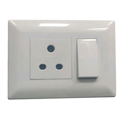 Schneider 6 Amp Polycarbonate 3 Pin Electrical Switches, Voltage: 220-240 V