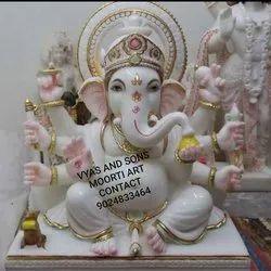 ashtabhuja marble Ganesh statue