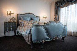 Masa Gaia Blue & Gold French Queen Size Bedroom Set