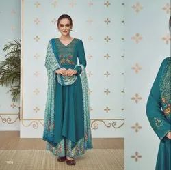 Pure Cotton with Palazzo Salwar Suit